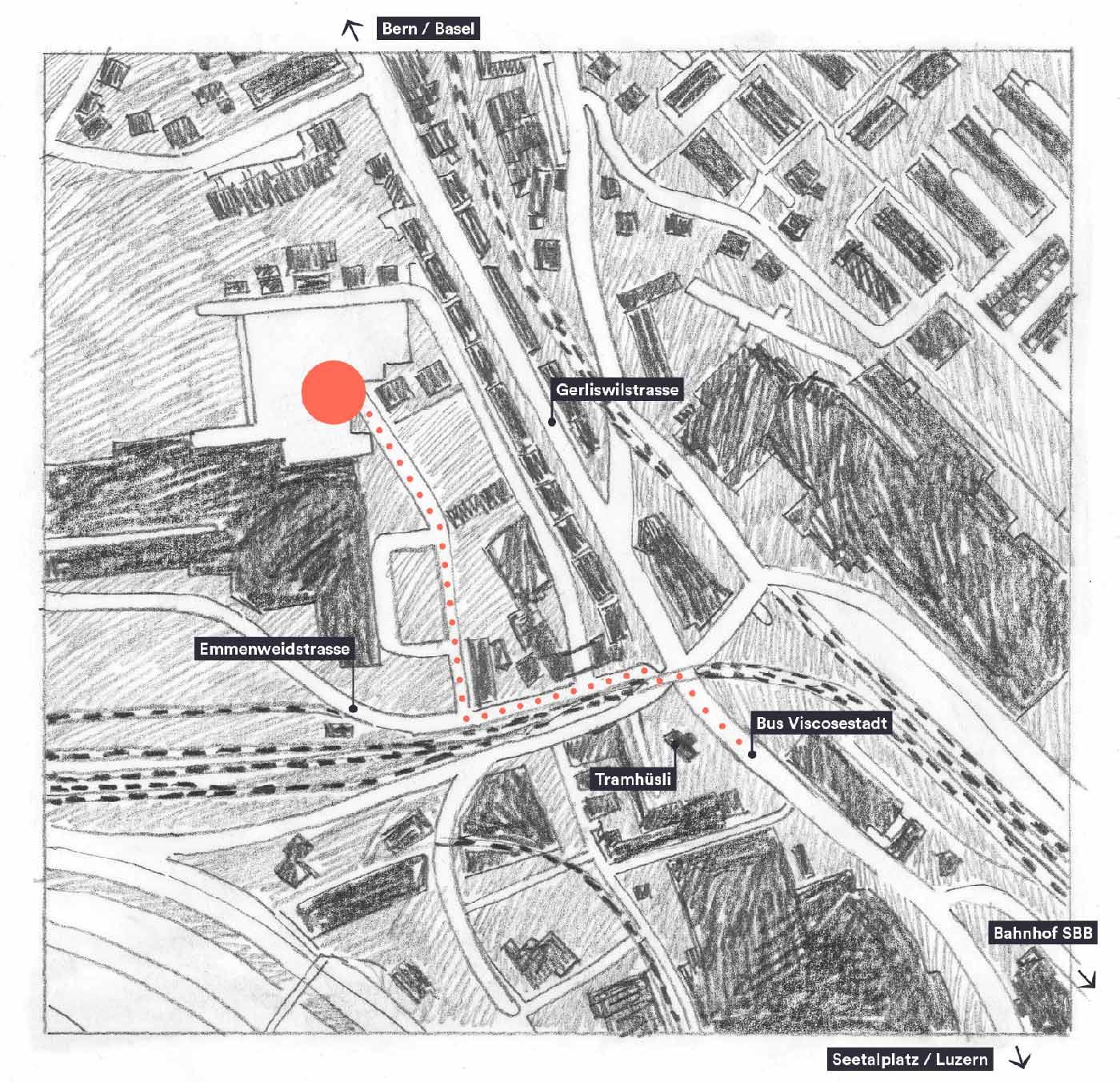 Lageplan Marcel Glanzmann – Malerei